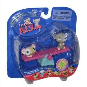 NWT Littlest Pet Shop Mice Seesaw